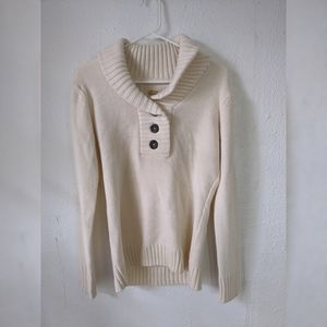 Natural Reflections Cowl Neck Knit Sweater